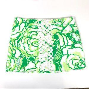 Lily Pulitzer Green Jacquard Tate skirt 6